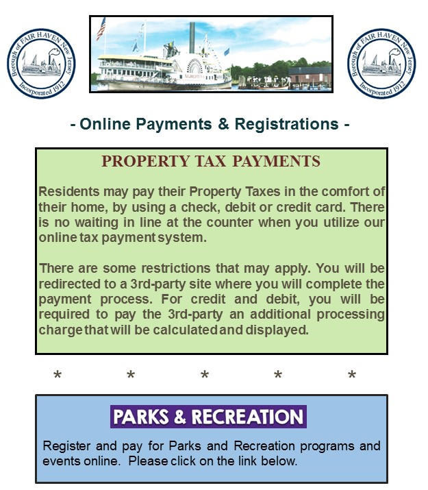Online payments information sheet