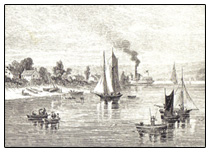 Drawing of boats