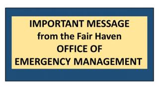 Message from the Office of Emergency Management